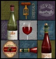 Wine Collage Box Fine Art Print