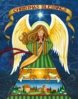 Christmas Blessings Angel Fine Art Print