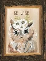 Be Wise Owl Framed Print