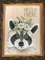 Hello There Raccoon Fine Art Print