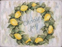 Choose Joy Lemon Wreath Fine Art Print
