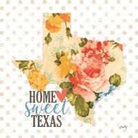 Home Sweet Texas Floral Fine Art Print