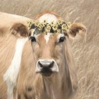 Floral Cow I Fine Art Print