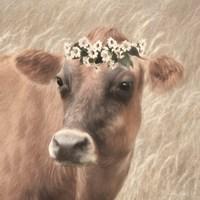 Floral Cow II Fine Art Print