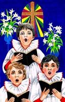 Christmas Choir Boys Fine Art Print