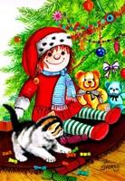 Christmas Kitten Fine Art Print