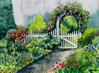 Summer Garden Gate Fine Art Print