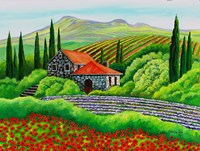 Tuscany Poppies Framed Print