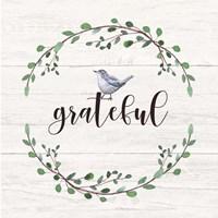 Grateful Sign Framed Print