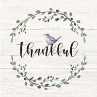 Thankful Sign Framed Print