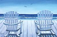 The Beach Chairs Fine Art Print
