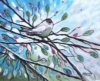 Glimmering Songbird Fine Art Print