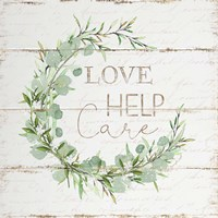 Love Help Care Framed Print