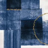 Blue and Gold II Framed Print