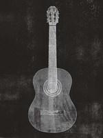 Old Guitar Framed Print