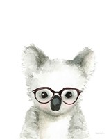Koala in Glasses Fine Art Print