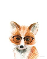 Fox in Glasses Framed Print