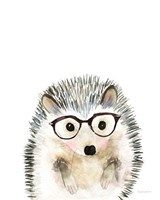 Hedgehog in Glasses Fine Art Print