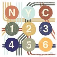 Retro New York CIty Life Subway Fine Art Print