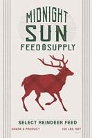 Midnight Sun Reindeer Feed v2 Framed Print