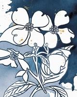 Indigo Blooms III Framed Print