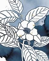 Indigo Blooms I Framed Print