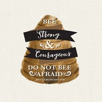 Bee Hive Sentiment I-Strong Framed Print
