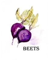 Veggie Sketch III-Beets Framed Print