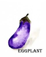 Veggie Sketch VII-Eggplant Framed Print