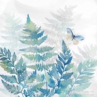 Indigo Ferns II Framed Print