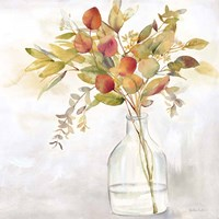 Eucalyptus Vase Spice I Framed Print