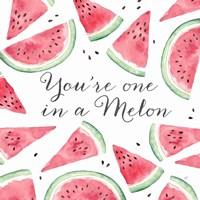 Fresh Fruit Sentiment III-Melon Fine Art Print
