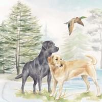 Woodland Dogs I Fine Art Print