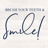 Bathroom Humor IV-Smile Framed Print