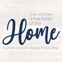Coffee Kitchen Humor VI-Home Framed Print