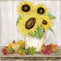 Fall Sunflowers I Fine Art Print