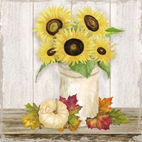 Fall Sunflowers III Framed Print