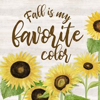 Fall Sunflower Sentiment II-Favorite Framed Print