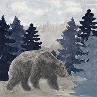Blue Cliff Mountains scene I-Bear Framed Print