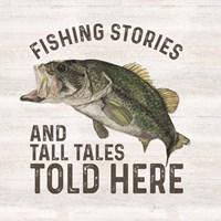 Less Talk More Fishing I-Tall Tales Framed Print