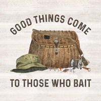 Less Talk More Fishing IV-Bait Framed Print
