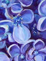 Lavender Floral Close Up Fine Art Print