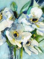 White Floral Still Life Fine Art Print