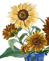 China Sunflowers II Fine Art Print