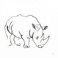 African Animals V Fine Art Print