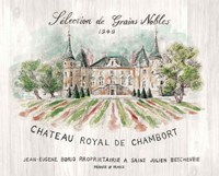 Chateau Chambort on Wood Color Framed Print