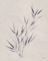 Soft Summer Sketches III Navy Framed Print