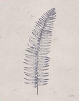 Soft Summer Sketches I Navy Framed Print