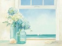 Seaside Hydrangea Framed Print