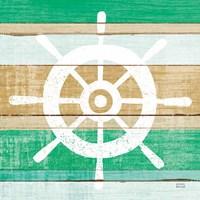 Beachscape VI Helm Green Fine Art Print